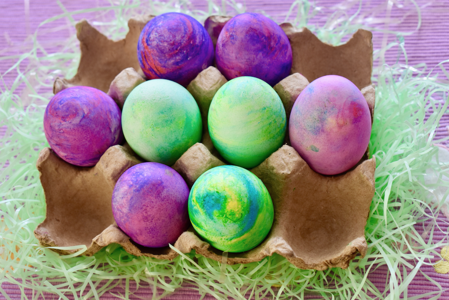 Shaving Cream Marbled Easter Eggs