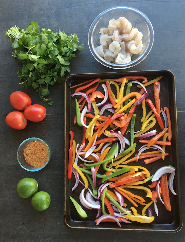 Sheet Pan Shrimp Fajitas Ingredients