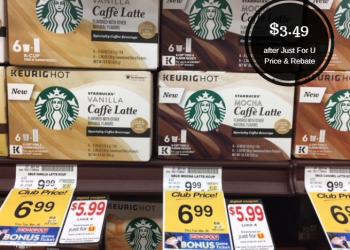 Starbucks Caffe Latte K-Cups As Low As $3.49