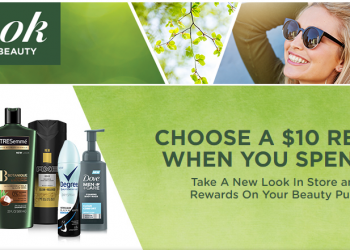 Take a New Look Unilever Springtime Beauty $10 Reward With $30 Purchase Offer