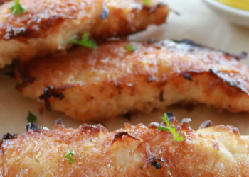 Oven Baked Coconut Chicken Strips