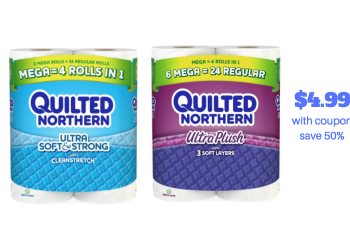 Quilted Northern Mega Roll 6 Ct Only $4.99 at Safeway (Just $.016/sheet)
