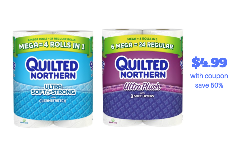 Quilted Northern Mega Roll 6 Ct Only At Safeway Just 016 Sheet Super Safeway