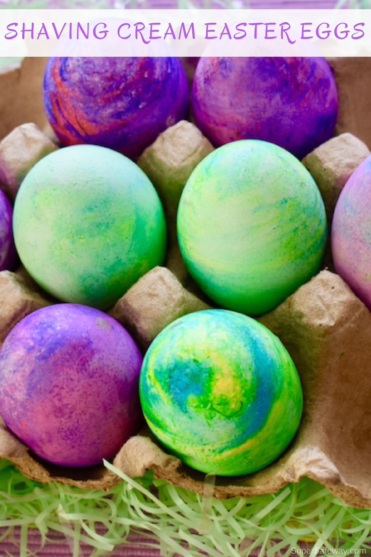 How To Dye Easter Eggs With Shaving Cream Super Safeway