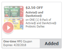 Activia Probiotic Dailies 8 Packs for as Low as $0.99 at Safeway