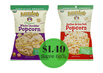 Annie's Homegrown Organic Popcorn Only $1.49 at Safeway – Save 60%