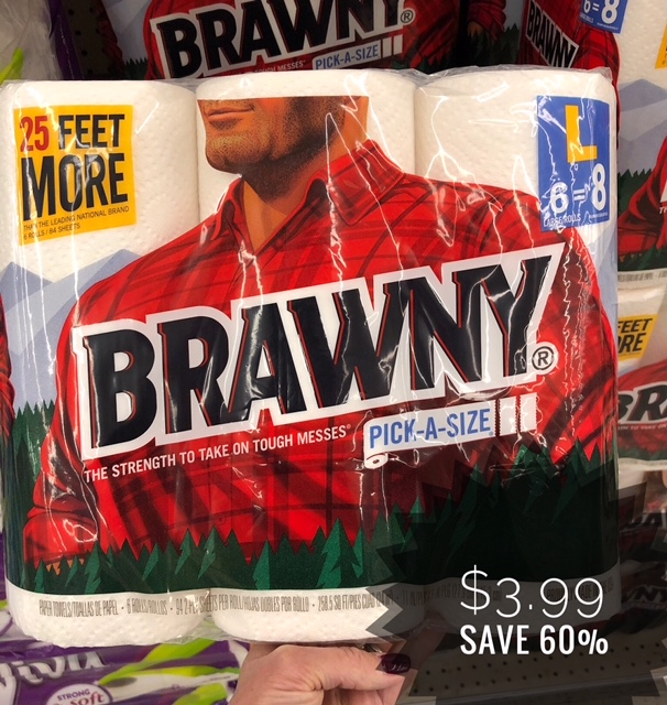 Brawny Paper Towels Only 3 99 0 67 Per Roll Save 60