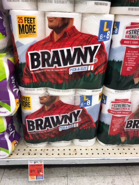 image regarding Brawny Printable Coupons identify Brawny Paper Towels Simply just $3.99 ($0.67 for each roll) - Preserve 60