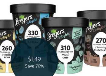 NEW Breyers delights Ice Cream for $1.49 at Safeway (Save 70%)