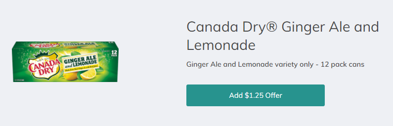 Canada Dry Ginger Ale and Lemonade for as Low as $1 74 (12