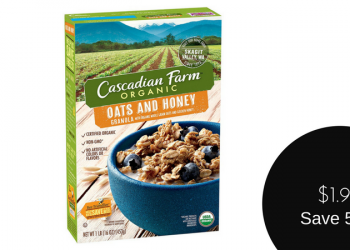 Cascadian Farm Coupon, Only $1.99 for Organic Granola