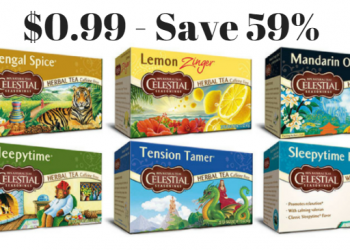 Celestial Seasonings Tea Only $0.99 at Safeway (Save 59%)