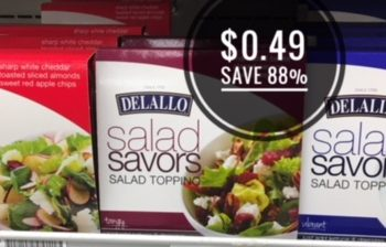 DeLallo Salad Savors Salad Toppings Only $0.49 – Save 88%