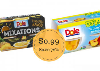 Dole Fruit Cups & Mixations Only $0.99 at Safeway – Save 72%
