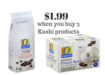 O Organics Coffee Only $1.99 with Kashi Purchase at Safeway