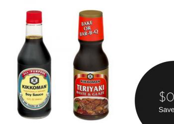 Kikkoman Coupon, Only $0.99 for Soy Sauce or Teriyaki Baste and Glaze