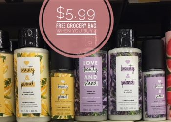 Love Beauty and Planet Products Only $5.99 Plus FREE Reusable Grocery Bag