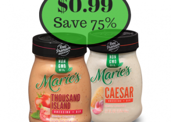 Marie's Salad Dressing Only $0.99 at Safeway – Save 75%
