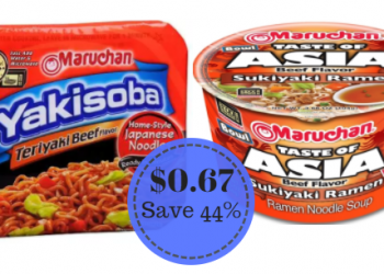 Maruchan Noodle Bowls and Yakisoba Only $0.67 (Save 44%)