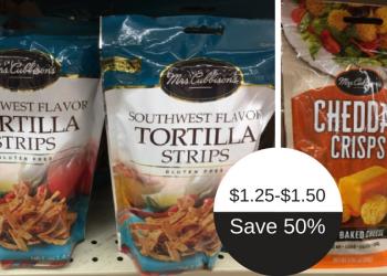 Mrs. Cubbison's Coupon Deals – Tortilla Strips $1.25 & Cheddar Crisps $1.50