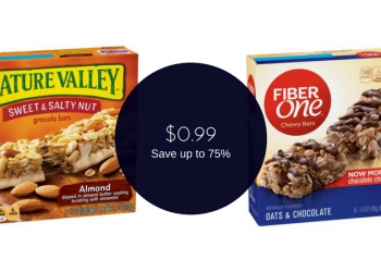 Nature Valley & Fiber One Bars for $0.99 at Safeway