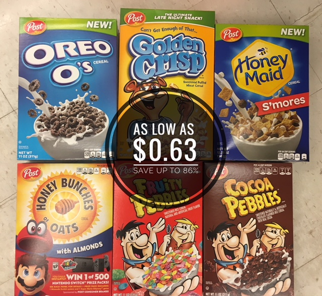 photo about Post Cereal Printable Coupons named Pick out Short article Cereals as small as $0.63 at Safeway - Conserve up towards