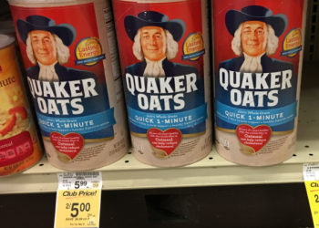 Quaker Oats 42 oz On Sale!  Pay Just $2.50 (Save up to 58%)
