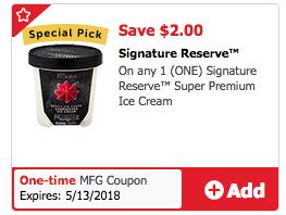 Signature Reserve Ice Cream Coupon
