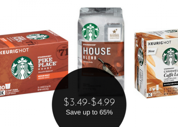 Starbucks Sale – $3.49 for Latte K-Cups or $4.99 for Coffee Bags or K-Cups