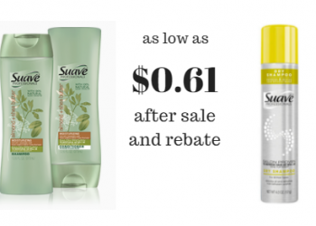 Suave Professionals Shampoo, Conditioner and Stylers As Low As $0.61
