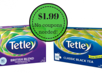 Tetley Tea Only $1.99 at Safeway – Good Hot or Iced (Save 60%)