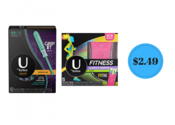 U by Kotex Tampons, Pads and Liners Just $2.49 at Safeway (Save 50%)