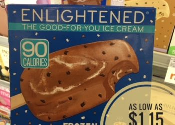 Enlightened Ice Cream Bars as low as $1.15 at Safeway – Save up to 77%