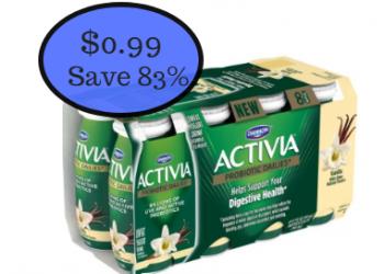 Dannon Activia Probiotic Dailies Yogurt Drinks 8 pack Just $0.99 at Safeway