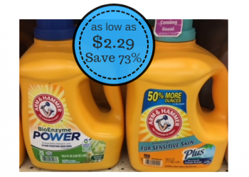 Arm & Hammer Laundry Detergent 100 Loads as Low as $2.29 ($.02 per load) at Safeway