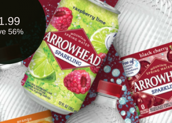 Arrowhead Water – $1.99 for Sparkling or $2.99 for Spring Water