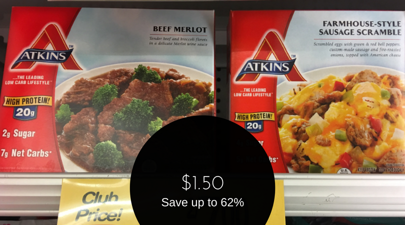 graphic relating to Atkins Printable Coupons named Atkins Discount codes - Spend as Minimal as $1.50 for a Supper or $3.00 for
