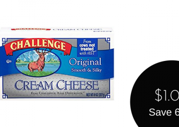 Challenge Cream Cheese Sale & Coupon, Only $1.00