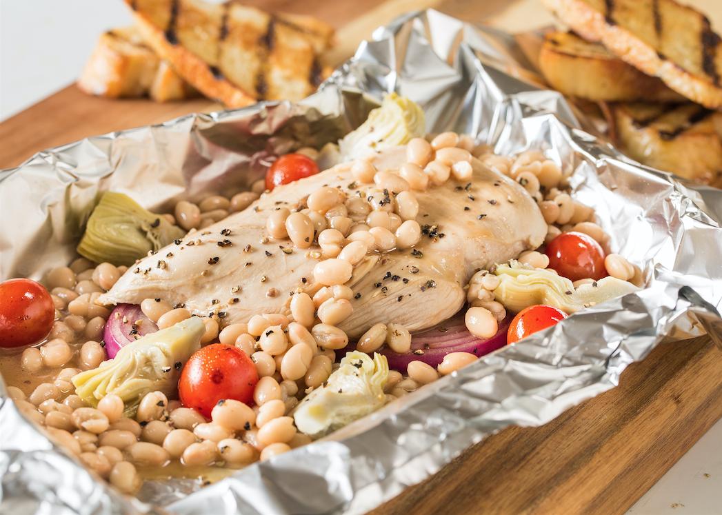 Chicken_White Bean & Artichoke Foil Packet
