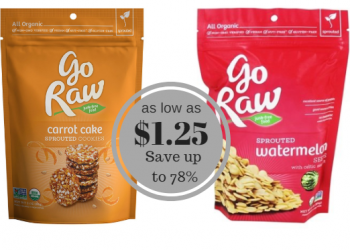 Go Raw Snack Sale & Coupons – Save up to 78% on Organic Cookies & Seeds