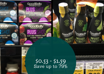 GoodBelly Coupon – as Low as $0.53 for Infused Drinks or $1.59 for PlusShot 4 Packs