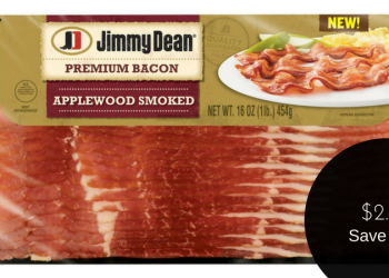 Jimmy Dean Bacon on Sale, Pay $2.99 After Coupon (Save 50%)
