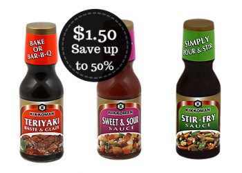Select Kikkoman Sauces Only $1.50 at Safeway – Save up to 50%