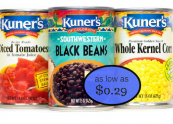 Kuner's Beans, Veggies and Tomatoes as Low as $0.29 With Coupon at Safeway