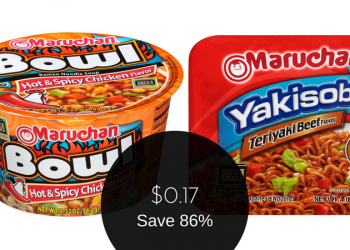 Maruchan Coupons – $0.17 for Yakisoba & Hot and Spicy Bowls