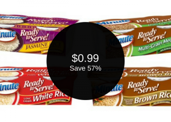 Minute Ready to Serve Rice for $0.99 (Save 57%)