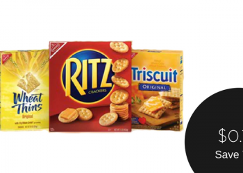 Nabisco Ritz or Snack Crackers for $0.75 Each When You Buy 4
