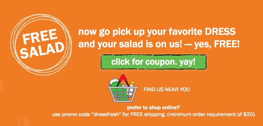 Organic Girl Free Salad Coupon