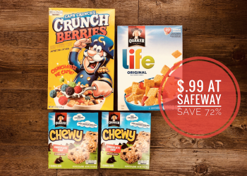Quaker Cereal & Granola Bars Just $.99 Each at Safeway (Save 72%)