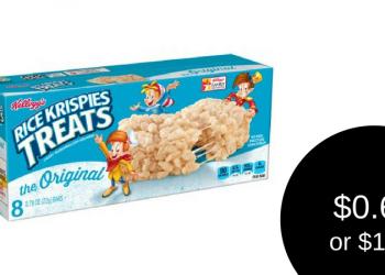 Rice Krispies Treats $1.69 ($0.69 After Kellogg's Family Rewards Points)